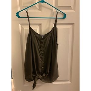 Charlotte Russe tie front tank